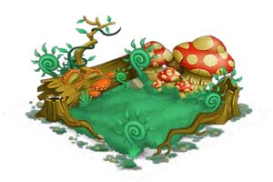 Image of level 4 Nature habitat in Monster Legends.